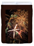 Fireworks Exploding Everywhere Duvet Cover by Garry Gay