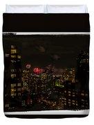 Fireworks From My Window 1 - Manhattan Duvet Cover