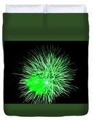 Fireworks In Green Duvet Cover