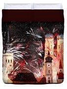 Fireworks In Munich Duvet Cover