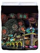 Fireworks Over Atlantic City Duvet Cover