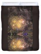 Fireworks Over Sydney Opera House Duvet Cover
