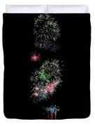 Fireworks Over The Bay Duvet Cover
