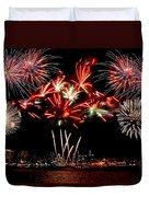 Fireworks Over The Delaware Duvet Cover