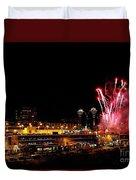 Fireworks Over The Kansas City Plaza Lights Duvet Cover