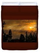 Firey Sunset Over Grants Pass Duvet Cover
