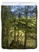 Firs And Ferns Duvet Cover