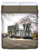First Baptist Church And Walley School In Bristol Ri Duvet Cover