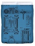 First Computer Blueprint Patent Duvet Cover