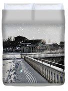 First Footsteps In The Snow Duvet Cover