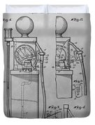 First Gas Pump Patent Drawing Duvet Cover