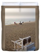 First On The Beach At Bethany Beach In Delaware Duvet Cover