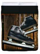 First Pair Of Ice Skates Duvet Cover