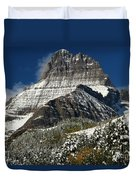First Snow At Mount Wilbur  Duvet Cover