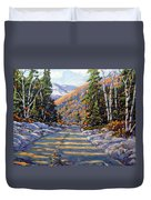 First Snow By Prankearts Duvet Cover by Richard T Pranke