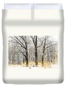 First Snow. Tree Brothers Duvet Cover