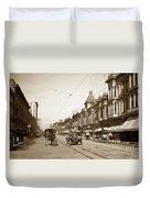 First Street Downtown San Jose California Circa 1905 Duvet Cover