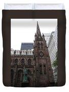 First Trinity Church Nyc Duvet Cover