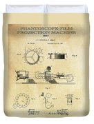 First True Motion Picture Projector Patent  1897 Duvet Cover