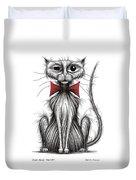 Fish Face The Cat Duvet Cover