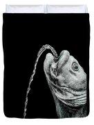 Fish Head Fountain Duvet Cover