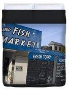 Fish Market In Hobart Duvet Cover