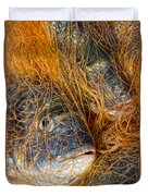 Fish On The Net Duvet Cover by Stelios Kleanthous