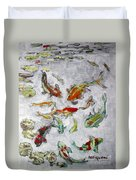 Fish Pond V2					 Duvet Cover