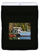 Fish Shack And Invictus Painted Duvet Cover