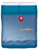 Fish Taking A Refreshing Dip Duvet Cover