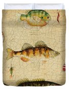 Fish Trio-c-basket Weave Duvet Cover