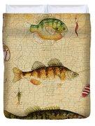 Fish Trio-c-green Duvet Cover