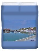 Fisher Island Marina Reflections Miami Fl 2  Duvet Cover