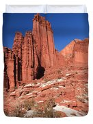 Fisher Towers Amphitheater Duvet Cover