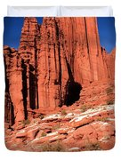 Fisher Towers Portrait Duvet Cover