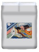 Fishermans Cottages String Collage Duvet Cover
