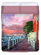 Fisherman's Village Marina Del Mar Ca Duvet Cover
