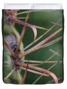 Fishhook Barrel Cactus Spines Duvet Cover