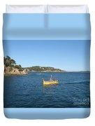 Fishing Boat - Cote D'azur Duvet Cover