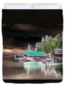 Fishing Boat Dock - Ketchican - Alaska - Photopower 02 Duvet Cover