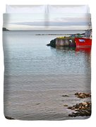 Fishing Boat Intwillingate Harbour-nl Duvet Cover