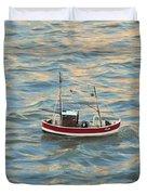 Fishing Boat Jean Duvet Cover