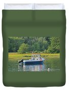 Fishing Boat Cape Neddick Maine Duvet Cover