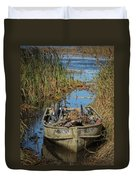 Opening Day Hunting Boat Duvet Cover