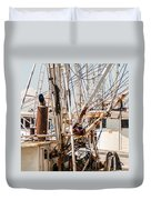 Fishing Boats Equipment Chaos Duvet Cover