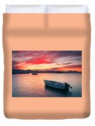 fishing boats 'II Duvet Cover