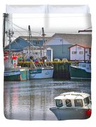 Fishing Boats In Branch-nl Duvet Cover