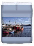 Fishing Boats In Killybegs Donegal Ireland Duvet Cover
