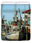 Fishing Boats In Nome Duvet Cover