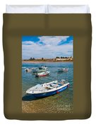 Fishing Boats Duvet Cover by Luis Alvarenga